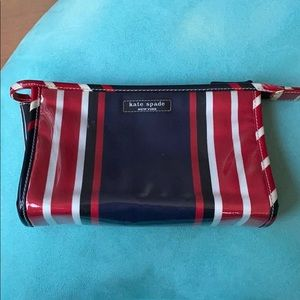 Kate Spade Red White and Blue Cosmetic Case